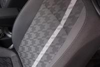 「ザ・ビートル デザイン」の専用格子調ファブリックシート。写真はブラックのもの。