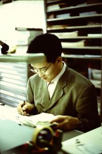二玄社『SUPER CG』編集部で新米記者時代の筆者。