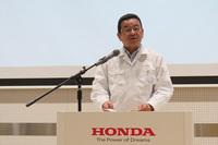 本田技研工業の八郷隆弘社長。2015年7月の就任記者会見では「現場とのコミュニケーションを強めていくこと」を最初の課題として挙げるなど、生産や開発の現場を重視する社長として知られている。