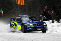 ソルベルグの「インプレッサWRC2007」。足まわりのセッティングに悩まされながらも、4位でフィニッシュした。
