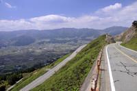 熊本県の阿蘇山公園道路。