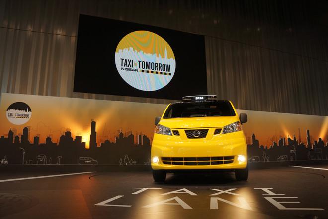 日産NV200ニューヨークタクシー(写真=日産自動車)
