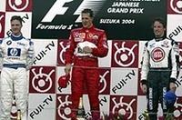 F1日本GP、シューマッハー独走で13勝目、佐藤は4位入賞【F1 04】の画像