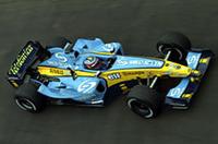 「iモード」のロゴを付けたルノー「R24」で、フェルナンド・アロンソは5位(写真=ルノー)