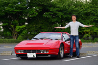 """""""赤い玉号""""こと、筆者が購入した「フェラーリ328GTS」はまさに極上モノ!(写真=池之平昌信)"""