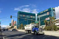 ラスベガスにて。市内屈指のホテル「MGMグランド」をのぞむ。