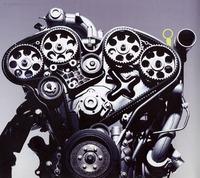 非対称ターボチャージャー付V6エコパワーターボエンジン