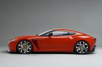 アルミホイールは鍛造の19インチ。「V12ザガート」の専用デザインとなる。