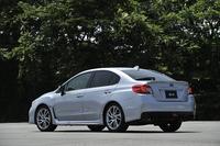 新モデルの「WRX S4」。走りに特化した「STI」に対し、こちらは高い快適性や環境性能、安全性能なども併せ持ったモデル。