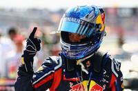 """予選Q3では一発で最速タイムを叩き出し、レースのスタートではしっかりとトップを守り、タイヤをいたわりながらリードタイムを稼ぐ――ベッテルは今シーズンを戦う上での""""勝利の方程式""""を確立しているかにみえる。チャンピオンシップでは2位ハミルトンに34点差をつけ、堂々の1位をキープ。(Photo=Red Bull Racing)"""