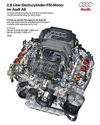 「アウディA6/A6アバント」に2.8リッターFSIエンジンが追加