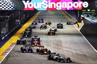 スタート直後、6番グリッドのカルロス・サインツJr.と8番グリッドのニコ・ヒュルケンベルグが接触。ヒュルケンベルグのフォースインディアのマシンはウオールにヒットし、セーフティーカーが出動した。(Photo=Red Bull Racing)
