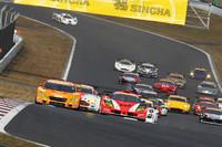 13日に行われた、GT300クラスレース1のスタートシーン。