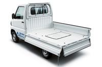 荷台の寸法は長さ1940mm×幅1415mm×ゲート高290mm。最大積載量は350kg。