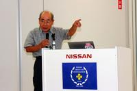 ワークスドライバーやレースチームの監督として活躍した古平 勝氏。「チェリーF-II(KF10型)TSレース仕様」の開発にも携わった。