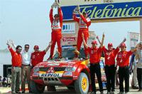 「ダカール2005」、三菱5連覇達成、ペテランセルは2連勝