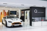 ビスポークプログラムの「Q by Aston Martin」。オリジナルの内装素材や特注のボディーカラーなどにより「自分だけの一台」を作り上げることができるという。