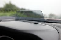 メーターフード前方の「アクティブ・ドライビング・ディスプレイ」には、車速やナビによる経路誘導などが表示される。