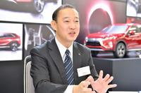 「エクリプス クロス」の商品企画を担当した、三菱自動車工業 チーフ・プロダクト・スペシャリストの林祐一郎氏。