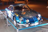 イベント会場には、往年の名車「アルピーヌA110」も展示された。
