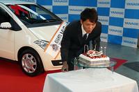 12月14日に誕生日を迎える坂本選手に、バースデイケーキのプレゼントというサプライズも。
