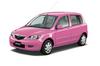 マツダ「ピンクのデミオ」プレゼント