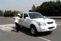 SUVのテストに使われたのは、ピックアップ「フロンティア」