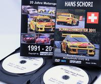 ハンスさん、20年にわたる戦いを収めたプライベート映像DVD2巻。「ランサーRSエボリューション」の巻には、「Bergmonster(山の怪物)」のサブタイトルが。