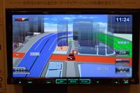 メモリーナビでは珍しい3D詳細地図。これが可能なのも高い基本性能があってこそ。自車マークは3種類から選べる。