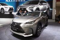 北京ショー2014で世界初公開された小型SUVの「レクサスNX」。
