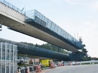建設工事が進む、新名神・神戸JCT付近の様子。(2017年6月 清水草一撮影)