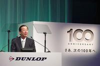 2010年には国内ダンロップタイヤ販売の60%を「エナセーブ」ブランドにしたいと語る、住友ゴム工業の三野哲治代表取締役社長。