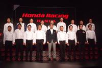 2018年のSUPER GT GT500クラスに参戦する、ホンダ系チームの監督とドライバーほか。