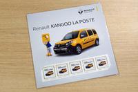 「カングー ラ・ポスト」のデビューを記念して、オリジナル切手(写真)も発売された。価格は、5枚1組で1242円。