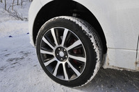 試乗車には「ピレリ・スコーピオン ウインター」タイヤが装着されていた。サイズは前後とも275/45R21。