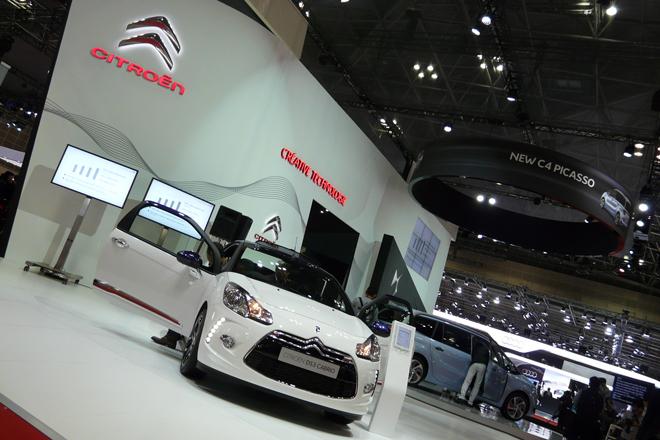 「東京モーターショー2013」のシトロエンブースの様子。