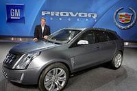 2008年1月の世界最大の家電見本市「CES」で発表された燃料電池車「キャデラックPROVOQ」。