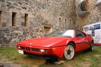 ジウジアーロは、その後も自らの作品にスタイリッシュなホイールを組み合わせた。これは1978年「BMW M1」。プロペラが回転するさまをイメージさせるホイールのデザインは、航空エンジン製造を発祥とするBMWにふさわしい。