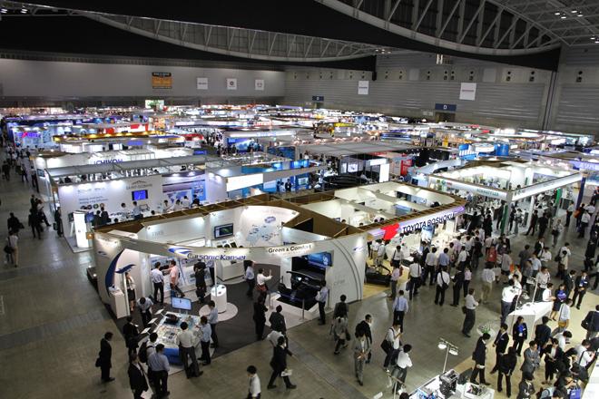 パシフィコ横浜展示ホールの会場風景。