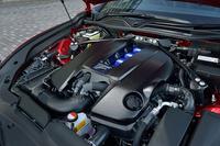 「RC F」に搭載される5リッターV8エンジン。