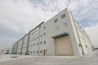 半田工場は今でも拡張が続いている。こちらの新しい建屋では、「777X」の中央翼が生産される予定。