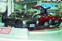 マツダの「AZ550スポーツ タイプB」(左)と同「タイプA」(右)。「オートザムAZ-1」の先駆けとなるものだった。