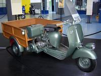 アルマンドさんが最初に乗っていたのと、ほぼ同型の「アペ」(ピアッジョ博物館蔵)。