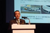 「SUPER GTでは、それぞれのチームがもつ独自の味わいを楽しんでいただけたら」と語る、ノバ・エンジニアリングの森脇基恭取締役。