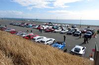 JAIA合同試乗会とは、年に1回、神奈川は大磯で催される輸入車の合同試乗会。身近なコンパクトカーからウン千万円の高級車まで、さまざまな輸入車が一堂に会するお祭りである。