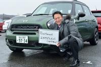 MINIについてインタビューに対応してくださったBMWジャパンの前田雅彦さん。MINIはダカールラリー4連覇ですね。おめでとうございます!