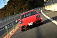 「ケイマンGTS」のMT車が0-100km/h加速に要する時間は、4.9秒。ベースモデル「ケイマンS」のMT車に比べ、0.1秒速くなる。