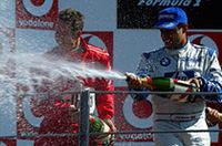 F1イタリアGP、シューマッハー復活の5勝目【F1 03】の画像