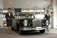 昭和の名宰相、吉田茂のメルセデスが「ヤナセ銀座スクエア」で展示中