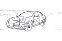 衝突の危険性をレーダーで検知すると、コンピューターがステアリングやブレーキに危険を回避する指令を出す。